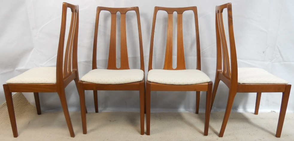Set of Four 1960 s Retro Teak Highback Dining Chairs by Nathan - SOLD